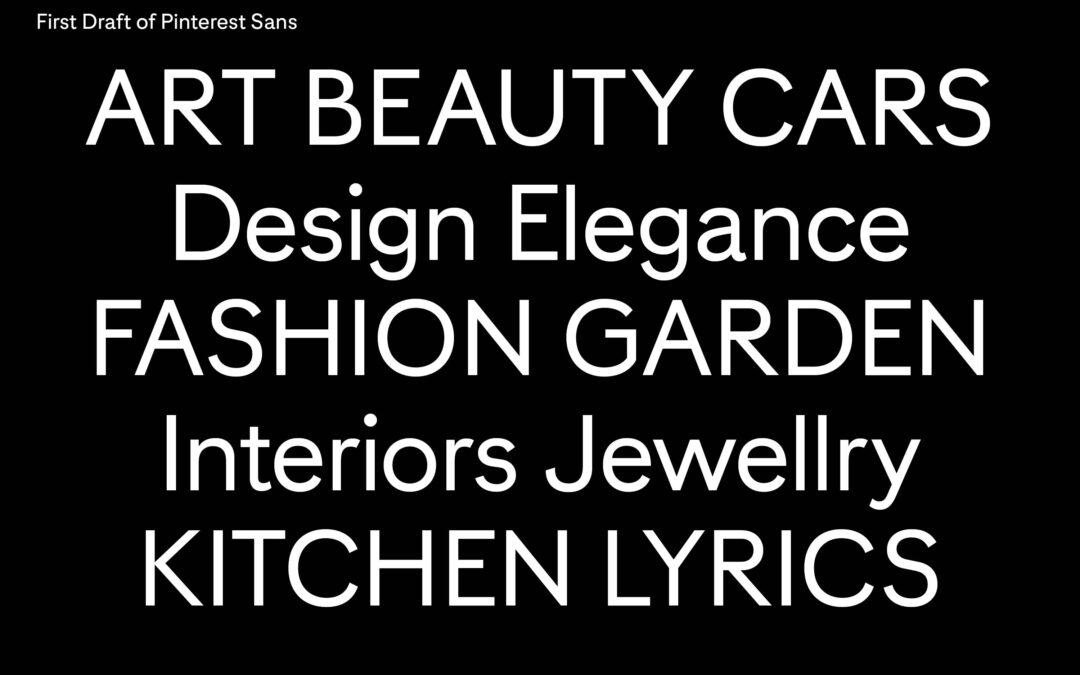 Pinterest 特製了專屬字型