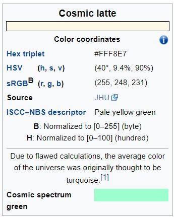 宇宙是什麼顏色的?